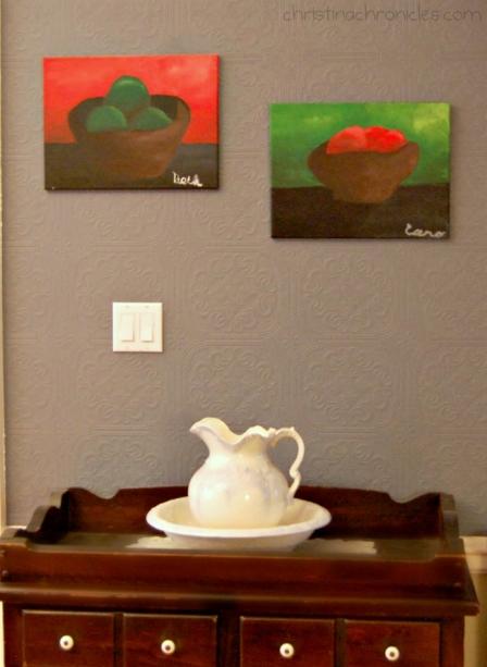 fruit bowl paintings