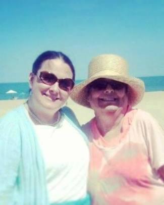 Mama and I  ... when we took her & Daddy to the beach